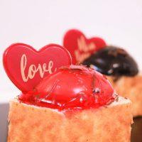 قالب شکلات قلب دو رنگ