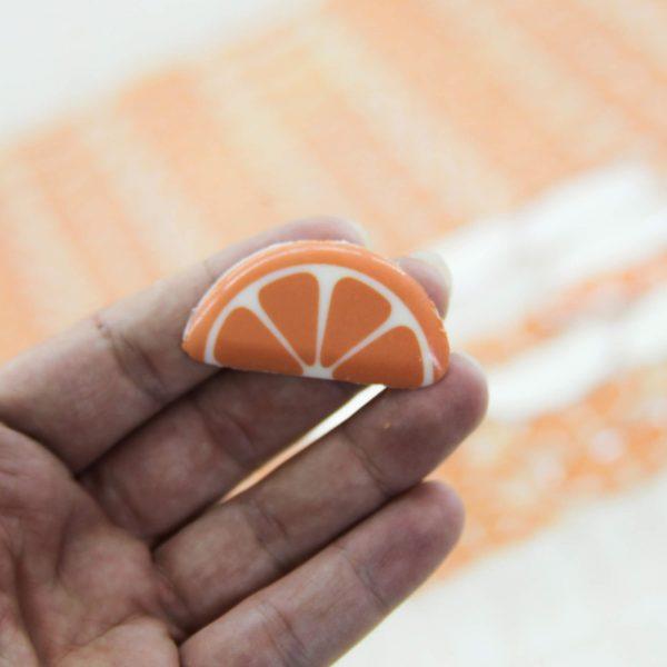 قالب شکلات پرتقال نیم دایره